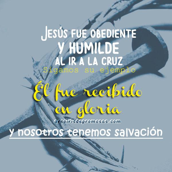 obediencia y humildad pasajes bíblicos con imágenes arcoiris de promesas