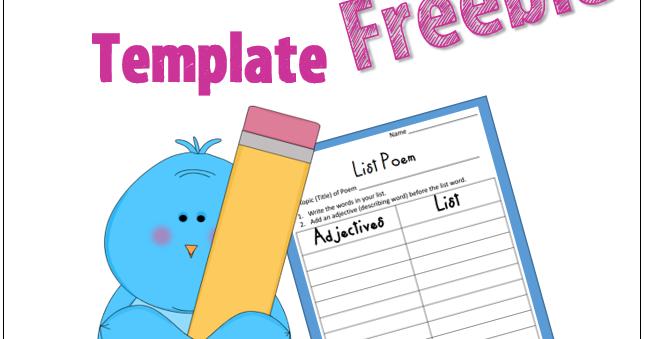 List Poem Template - Freebie | Little Priorities
