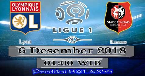 Prediksi Bola855 Lyon vs Rennes 6 Desember 2018