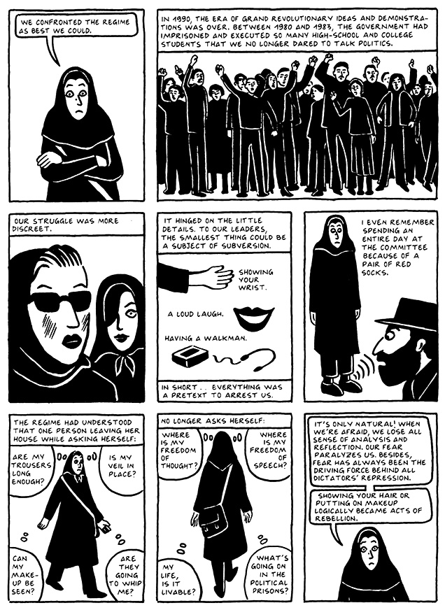 Read Chapter 16 - The Socks, page 148, from Marjane Satrapi's Persepolis 2 - The Story of a Return
