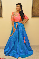 Nithya Shetty in Orange Choli at Kalamandir Foundation 7th anniversary Celebrations ~  Actress Galleries 007.JPG