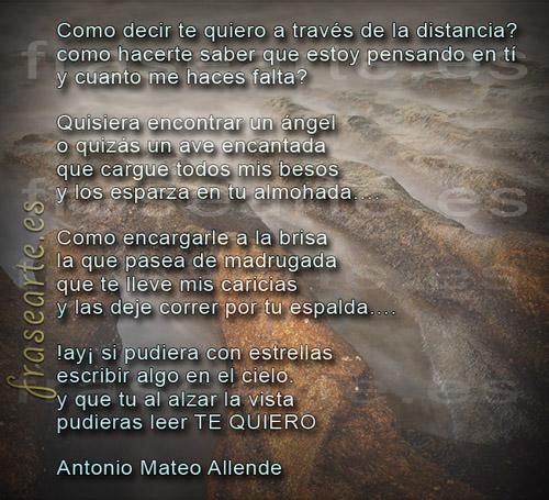 Poemas de amor de Antonio Mateo Allende