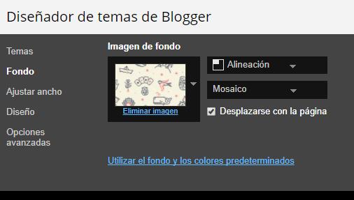 diseñador plantilla blogger