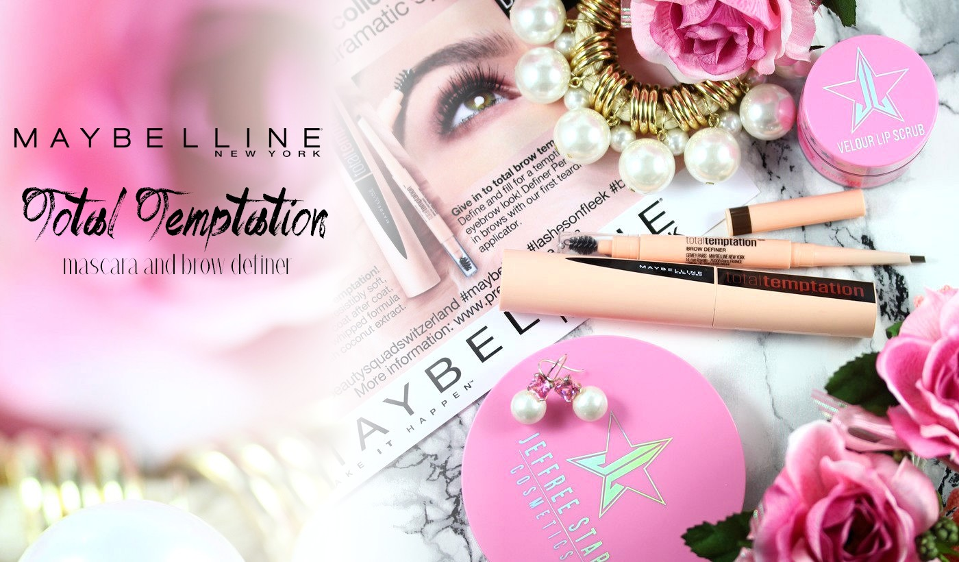 5f94df0865f Maybelline has just launched a new line called Total Temptation including a  mascara and a brow product. I received them around Christmas and have tried  them ...