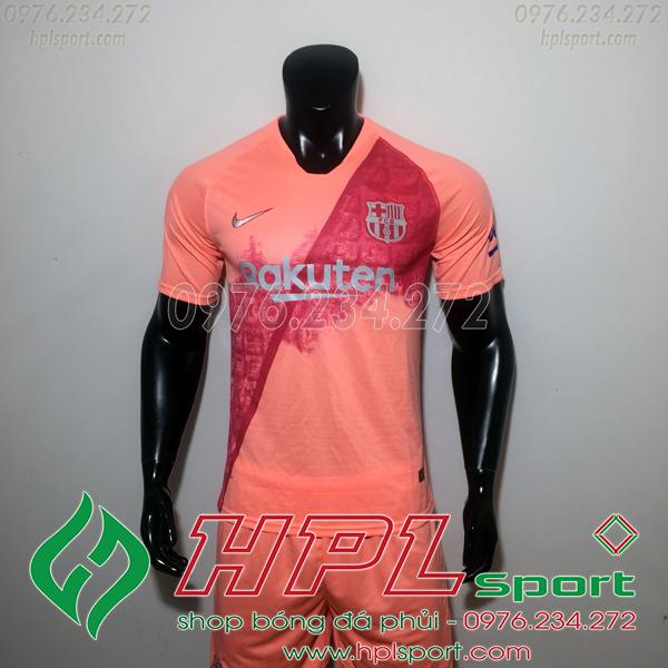 Áo đá bóng câu lạc bộ Barcelona hồng 2019