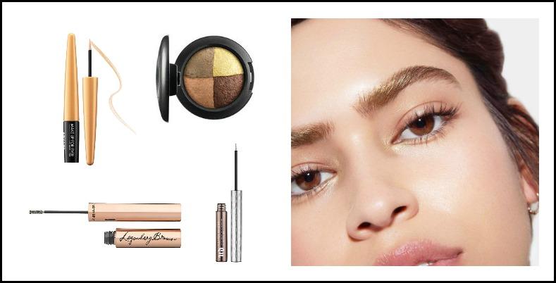 Metallic eyebrows, Makeup trend 2018