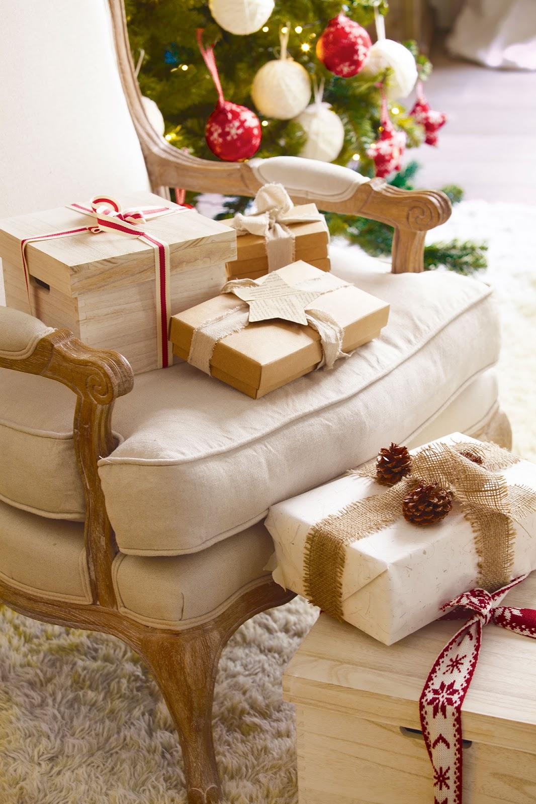 Casa tr s chic de natal a cabana e loft - Cajas de carton de navidad ...