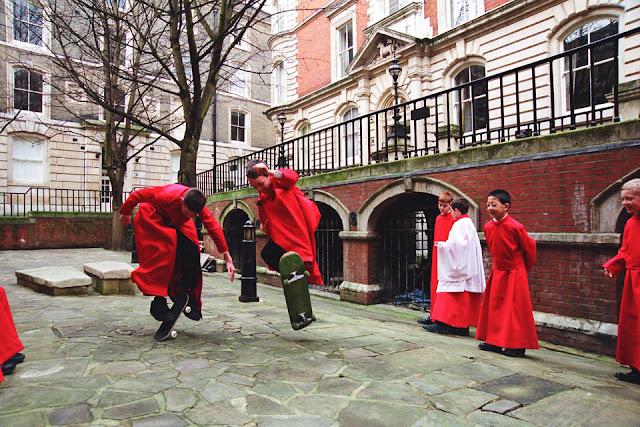 The choristers of Temple Church Choir - photo Nina Large