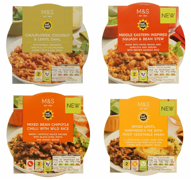 New vegetarian and vegan store cupboard meals from M&S