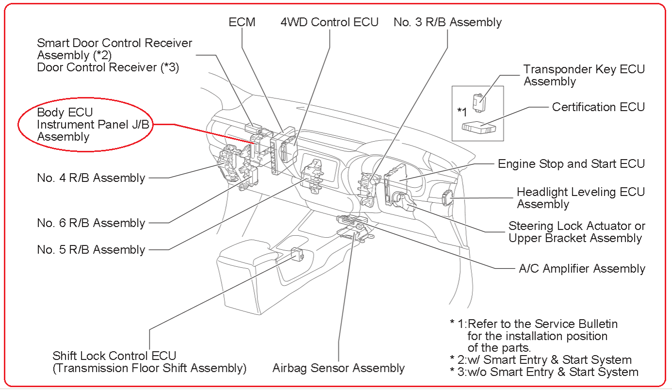 Toyota Immobilizer Wiring Diagram Truck Trailer Hilux Revo Engine Computer Body Ecu Electrical Tacoma