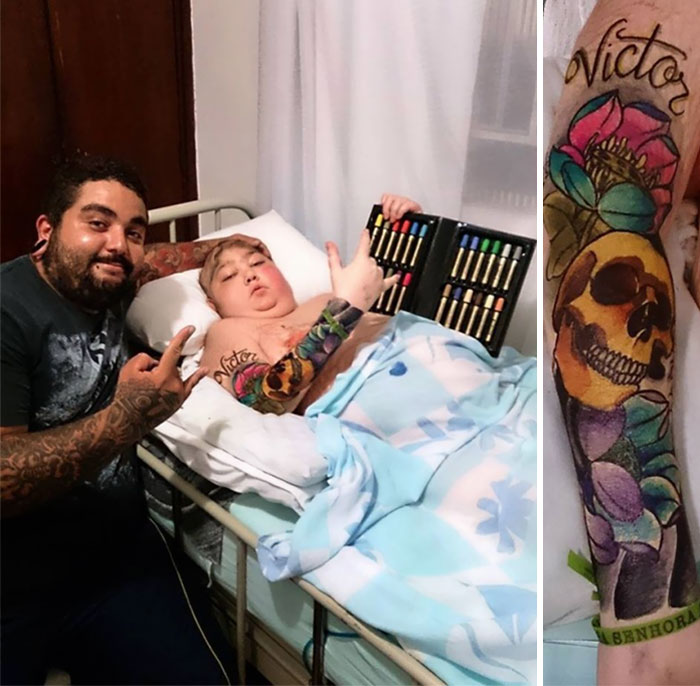 36 People's Heart-Breaking Last Wishes - Tattoo Artist Grants 12-Year-Old Boy's Last Wish With Colourful Markers
