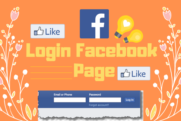 Facebook Login Welcome Homepage