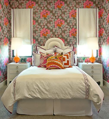 orange pink white bedroom decor jacqui nightstand