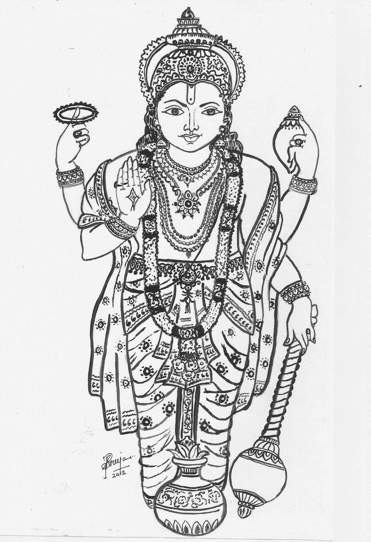 lord vishnu coloring pages - photo#12