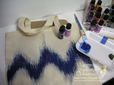 ikat pattern canvas bag step 1