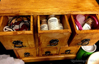 Inside the Curio cabinet from Reclaiming the Witch )0(