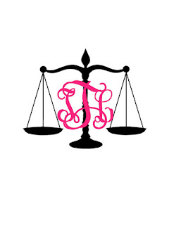 Scales of Justice monogram decal | brazenandbrunette.com