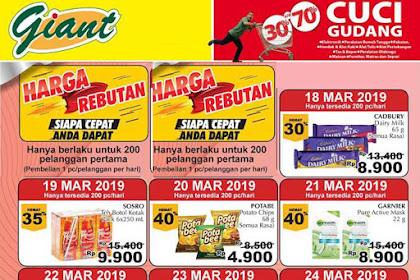 Katalog Promo Giant Weekday Terbaru 18 - 24 Maret 2019