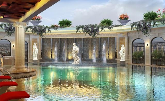 Bể bơi sang trọng tại chung cư Vinhomes D'Capitale Trần Duy Hưng