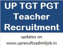 UP TGT PGT Teacher Recruitment