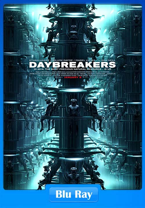 Daybreakers 2009 Dual Audio Hindi 720p Esub BluRay x264 | 480p 300MB | 100MB HEVC