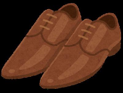 先の尖った革靴のイラスト(茶)