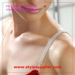 rhinestone bra straps four row