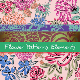 flower pattern element vector, pattern design, pattern design for trends spring 2016