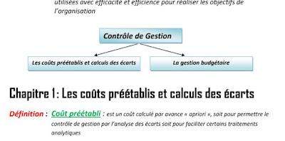 résumé contrôle de gestion coût préétablis