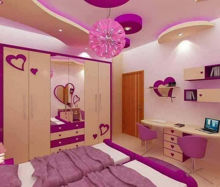 Amazing Purple Room Design With 2 Beds, Your Kids Will Love It