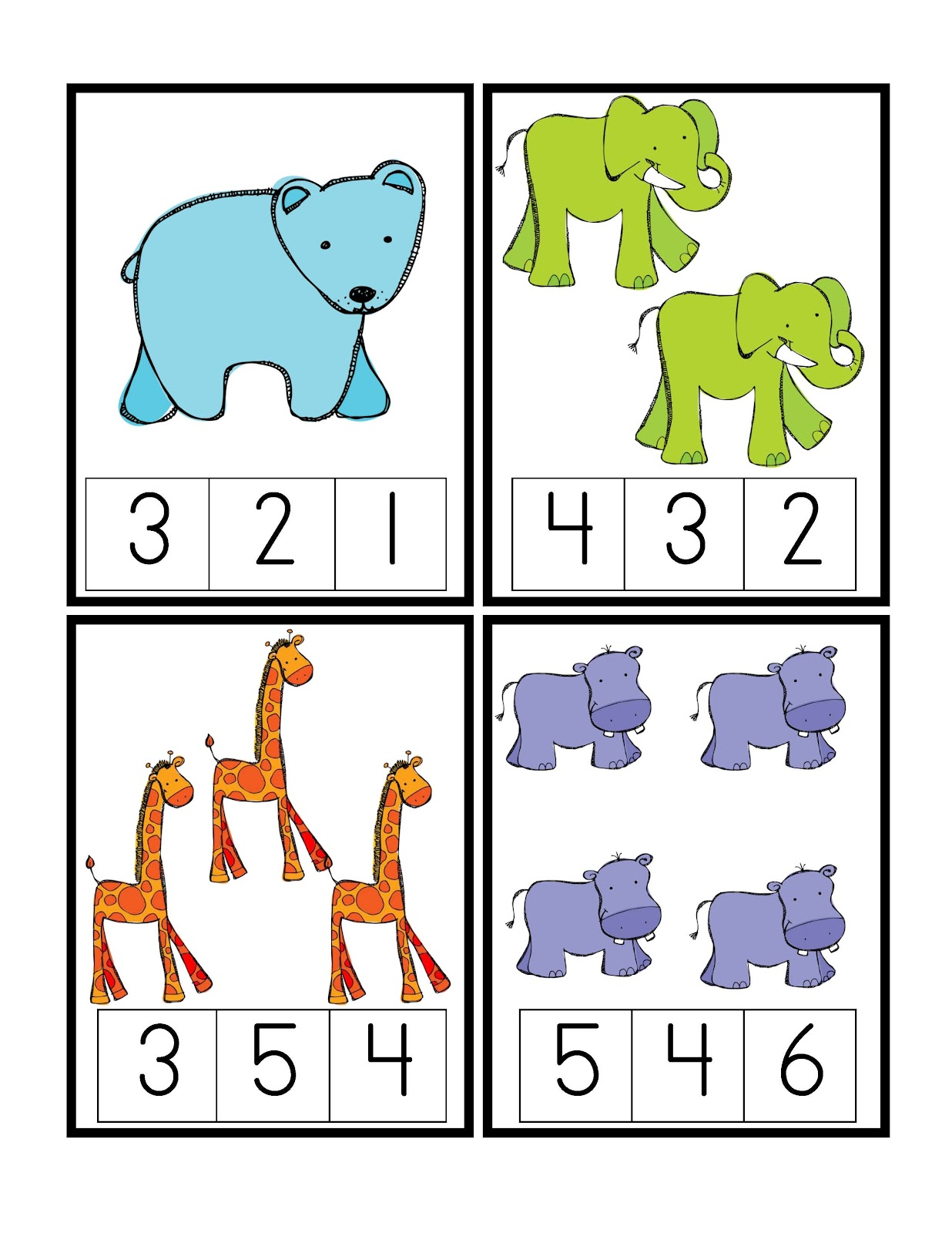 Zoo Math Worksheet For Preschoolers