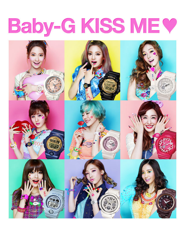 1f7f97a0ce Picture] 130215 SNSD @ Casio 'Kiss Me Baby G' Official Website