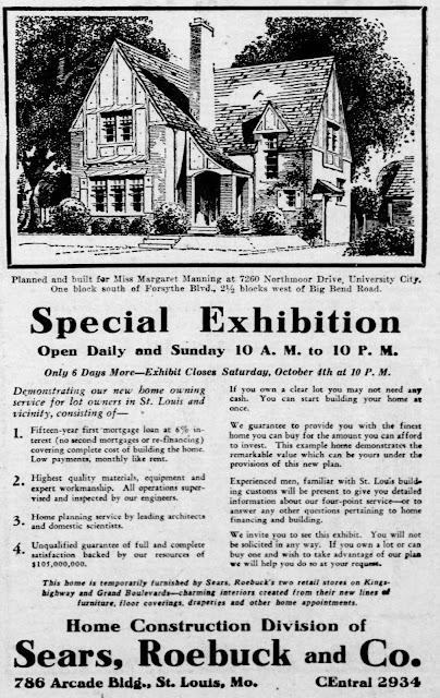 margaret manning's sears elmhurst as model home 1930