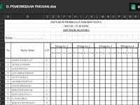 Format Pemeriksaan Pakaian Siswa