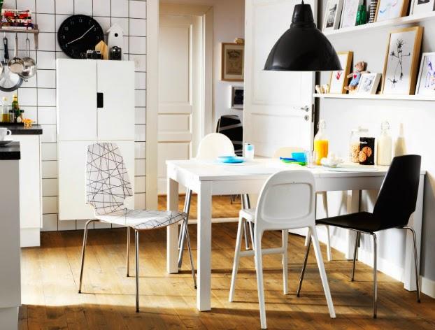 31 gambar desain ruang makan minimalis mungil ukuran kecil for Comedores ikea fotos