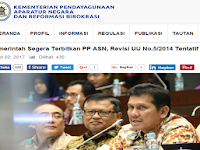 Resmi: Pemerintah Segera Terbitkan PP ASN, Revisi UU No.5/2014 Tentatif Dilakukan yaitu...