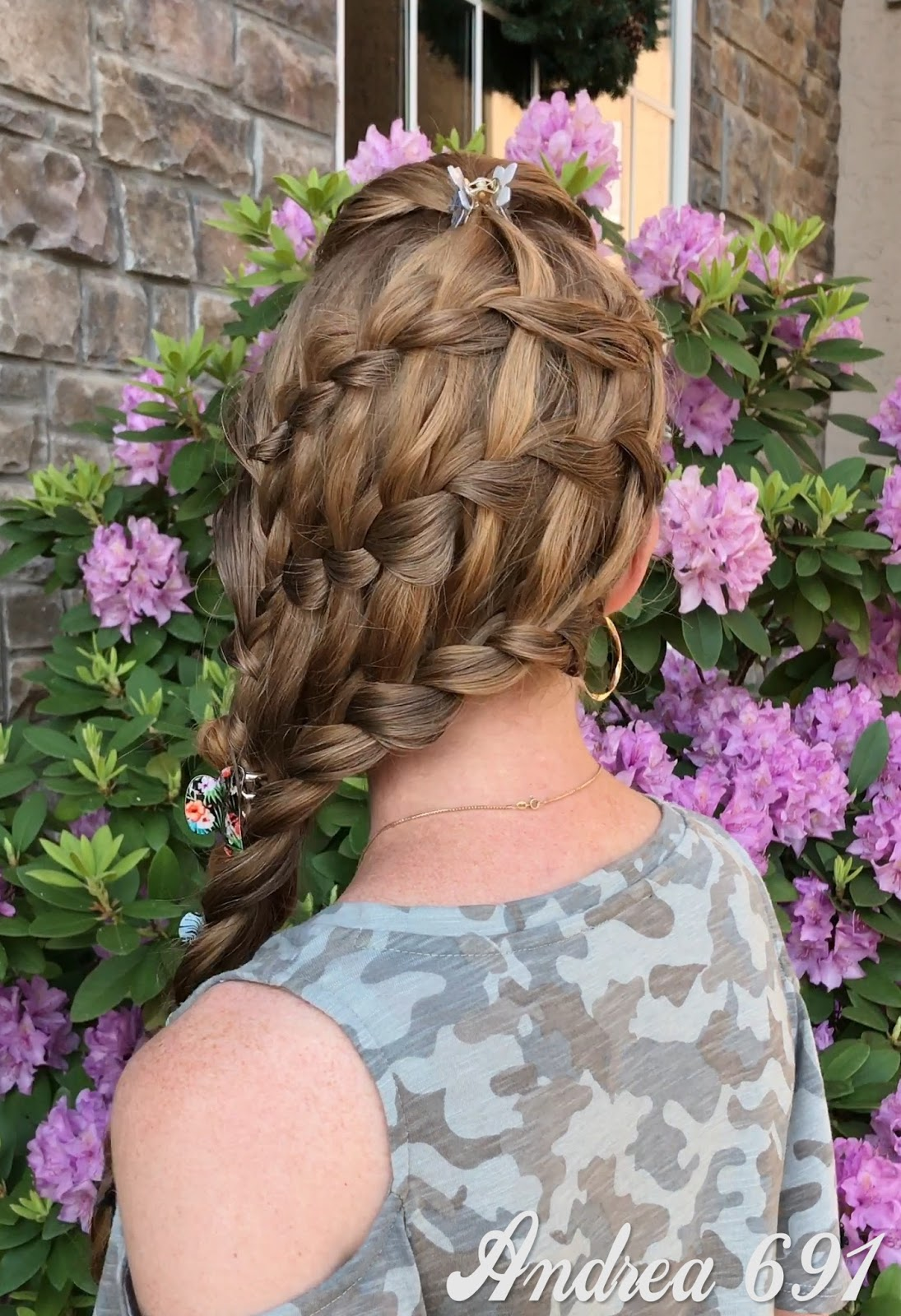 Braids Hairstyles For Super Long Hair Basket Weave Braided Hairstyle
