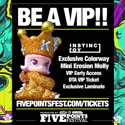 Five Points Festival 2018 VIP Exclusive Mini Erosion Molly vinyl figure by Kenny Wong x INSTINCTOY