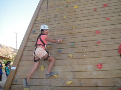 Wadi Adventure wall-climbing
