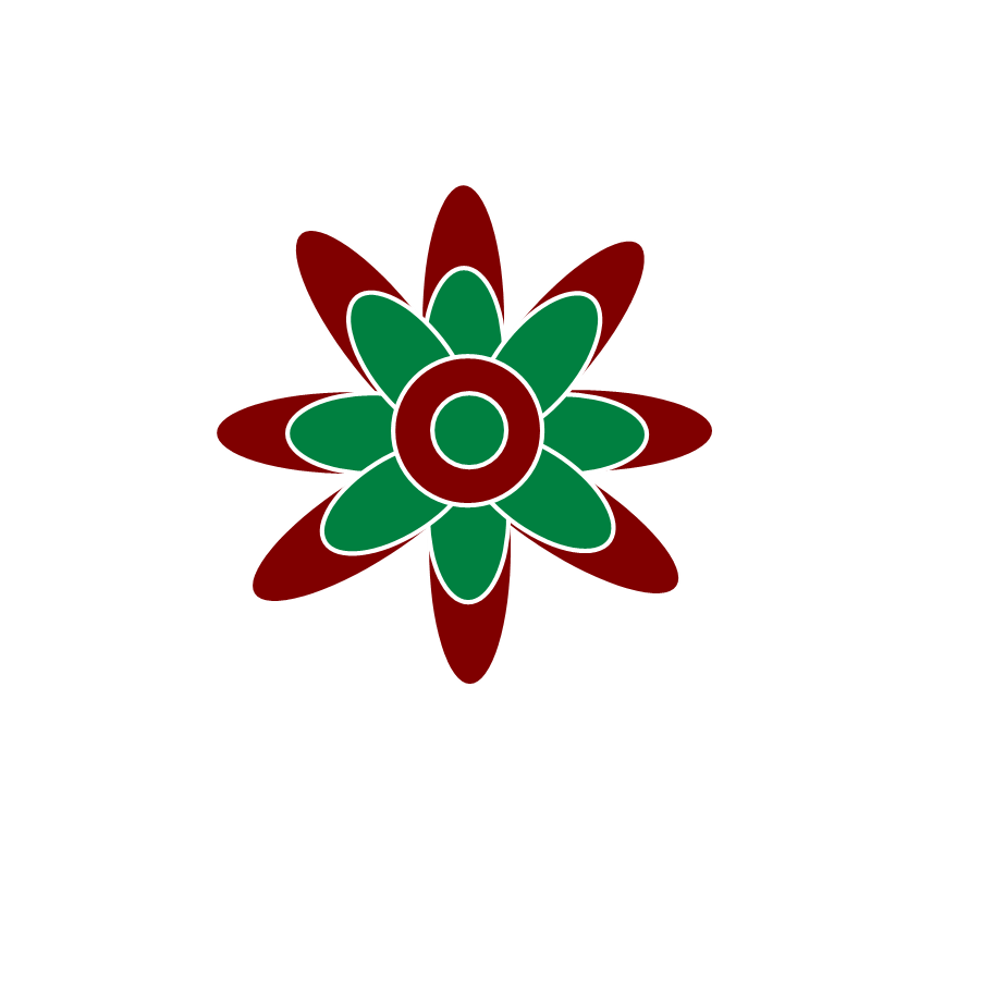medium resolution of two free christmas clipart images one is a holiday flower in green and red the other image is a christmas tree with bright colorful circles