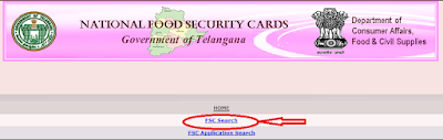 Step2: FSC Appliction Search in Telangana