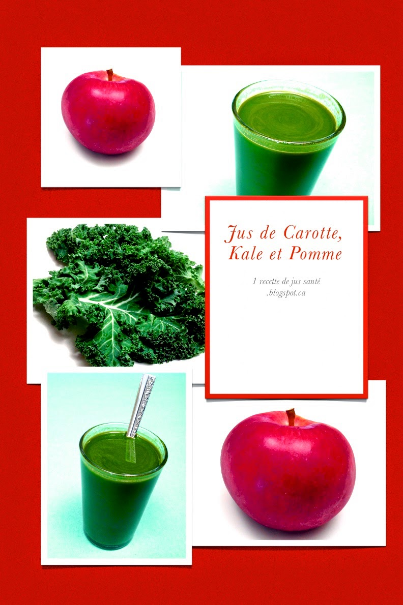 1 recette de jus sant jus de carotte kale et pomme. Black Bedroom Furniture Sets. Home Design Ideas