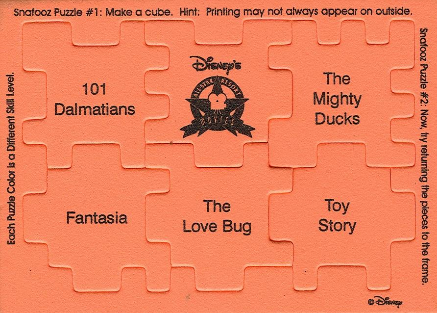 Disney Vacation Kingdom: All Star Movies Resort Puzzles