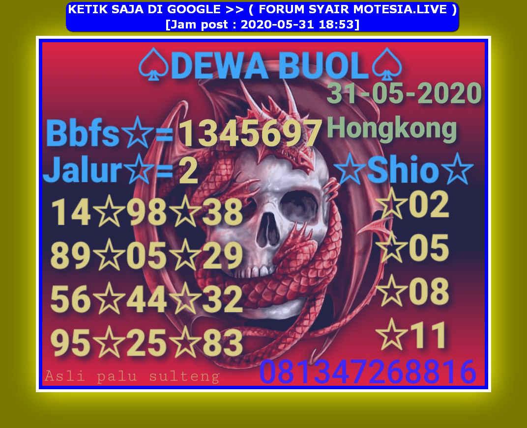 Kode syair Hongkong Minggu 31 Mei 2020 29
