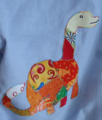 a multi-coloured Diplodocus