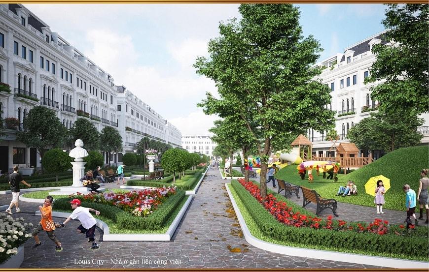 nhà liền kề vườn louis city
