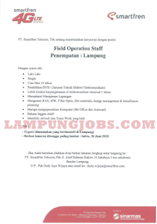 Open Recruitment di PT. Smartfren Telecom Tbk Bandar Lampung Terbaru Juni 2018