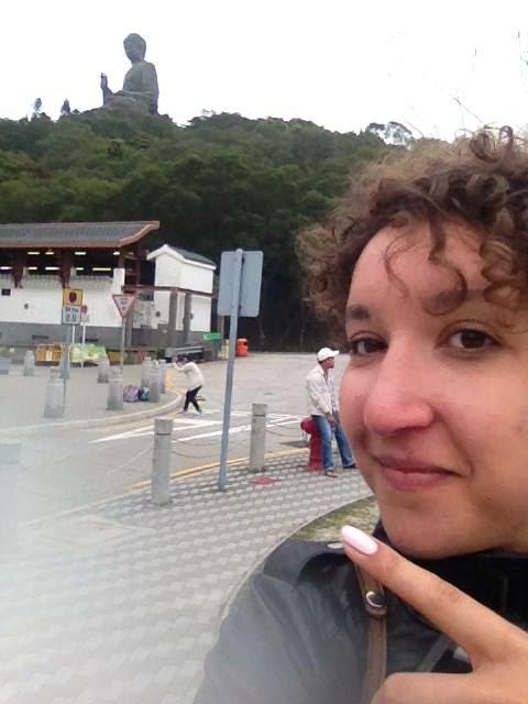 lantau island bronze buddha selfie
