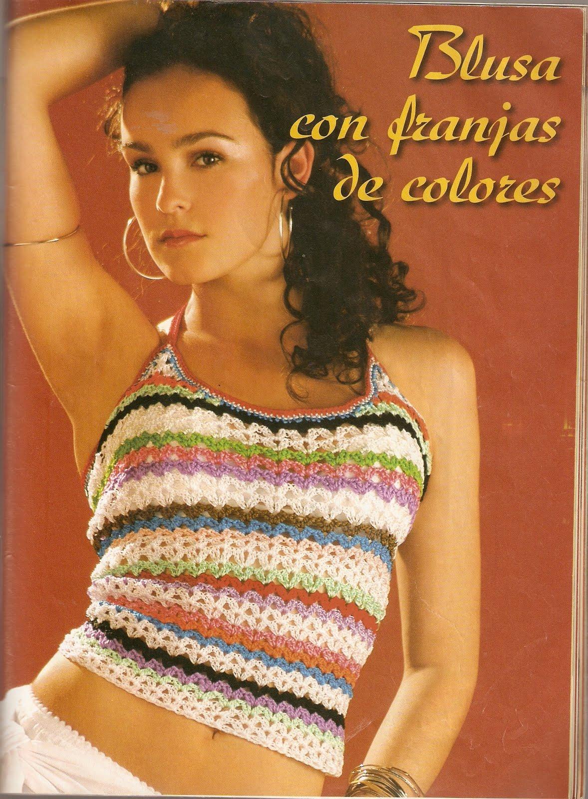 Top Franjas Colores Patron
