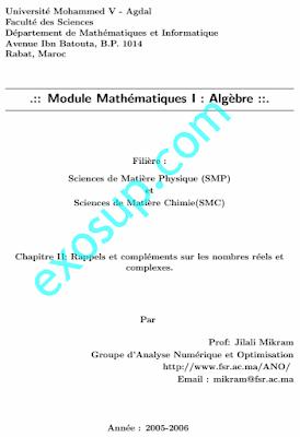 Chapitre II Rappels et compléments sur les nombres réels et complexes